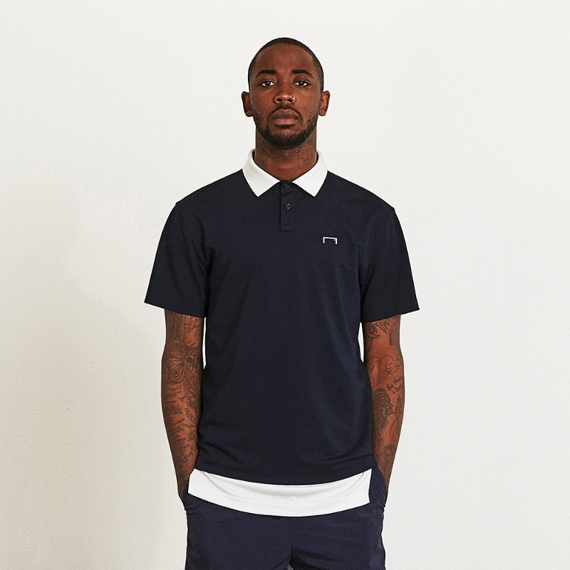 GOALSTUDIO CONTRAST TRIMMED POLO SHIRT