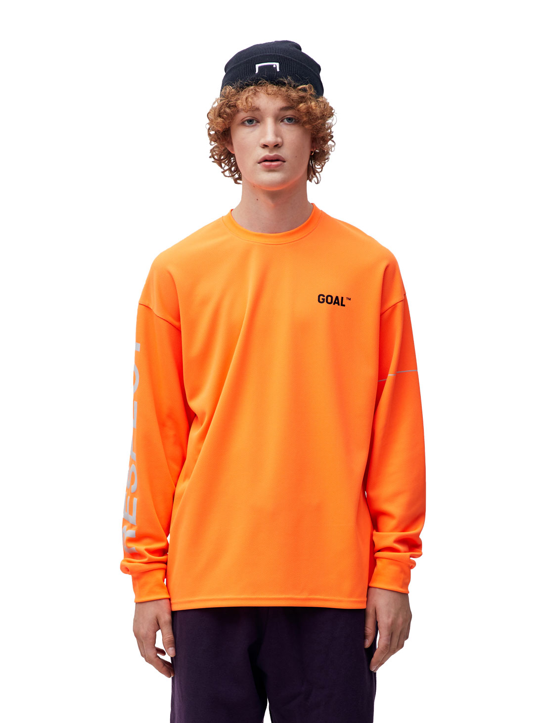 GOALSTUDIO RESPECT LONG SLEEVE TEE - ORANGE