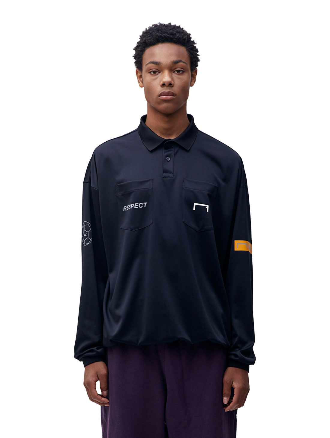 GOALSTUDIO RESPECT REFEREE SHIRT - BLACK
