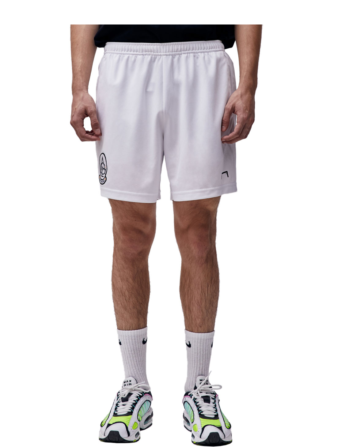 GOALSTUDIO PLAYER EMBLEM SHORTS - WHITE