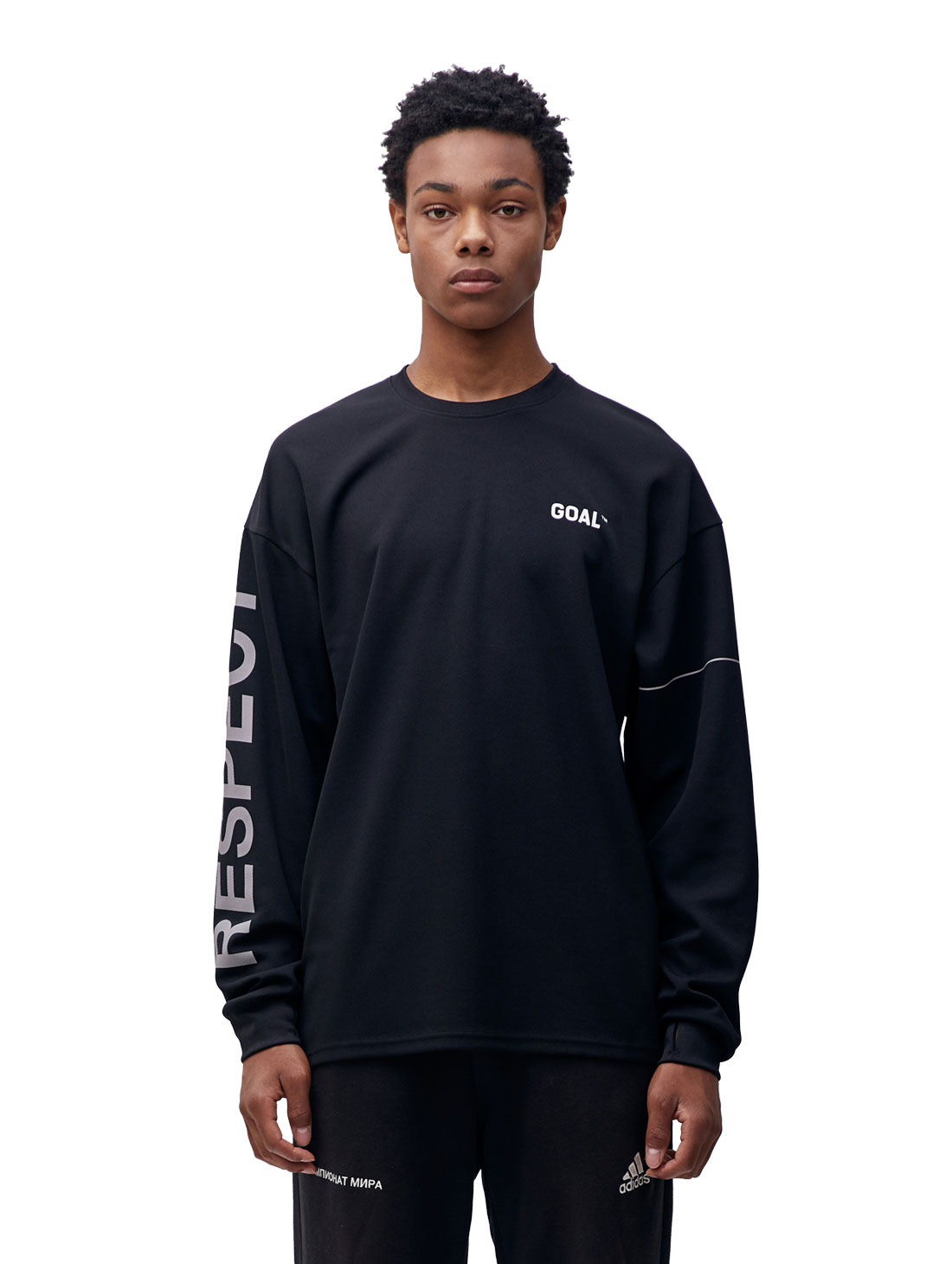 GOALSTUDIO RESPECT LONG SLEEVE TEE - BLACK