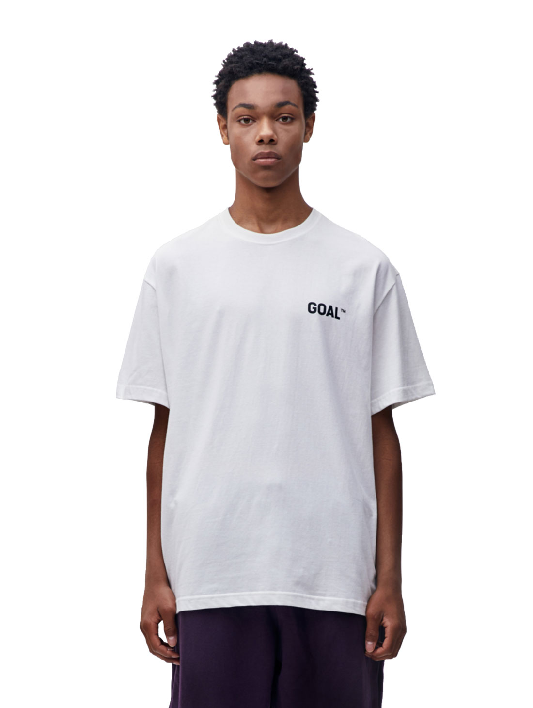 GOALSTUDIO TEXT LOGO TEE - WHITE