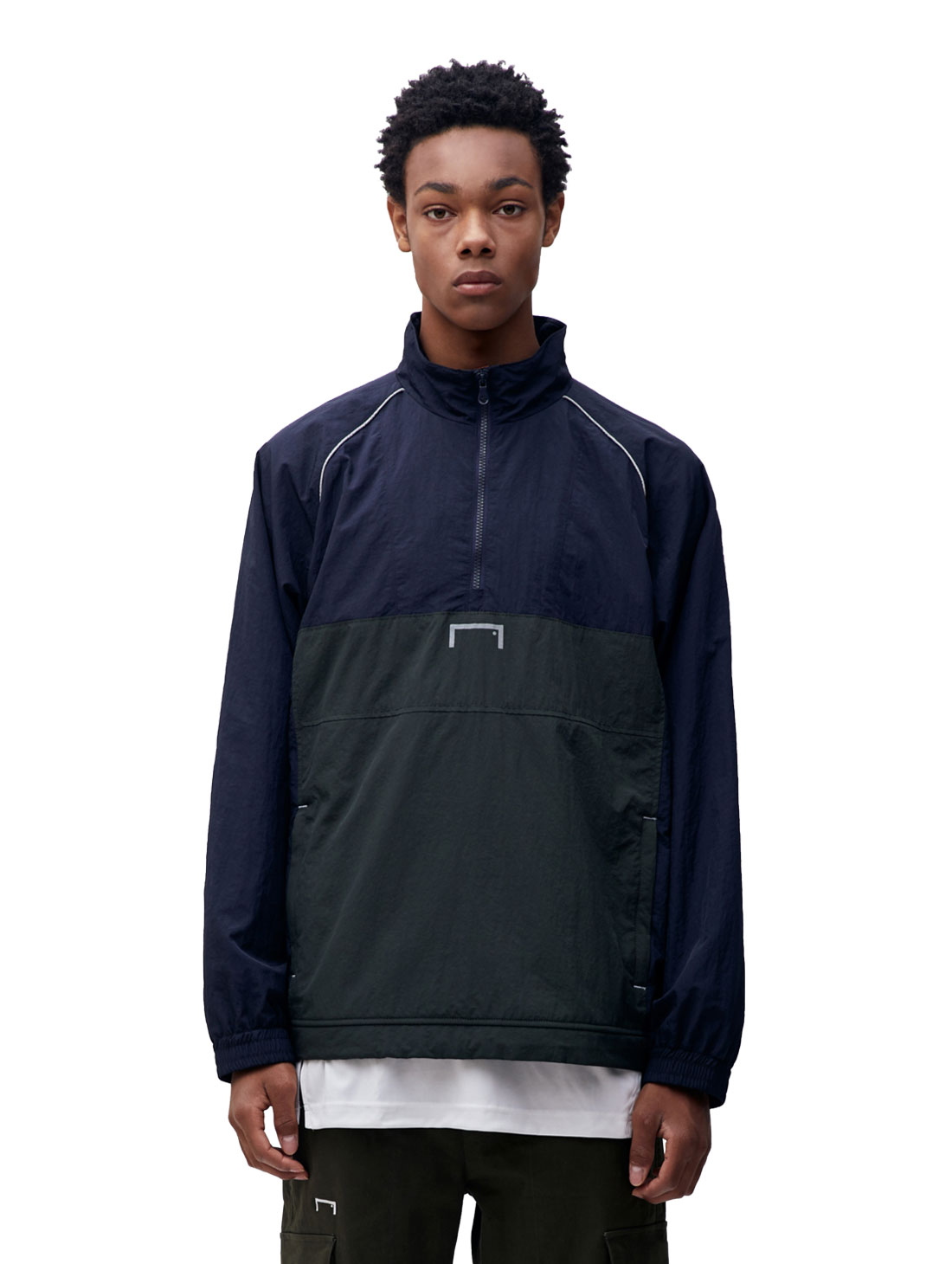 GOALSTUDIO COLOR BLOCK ANORAK - DARK NAVY