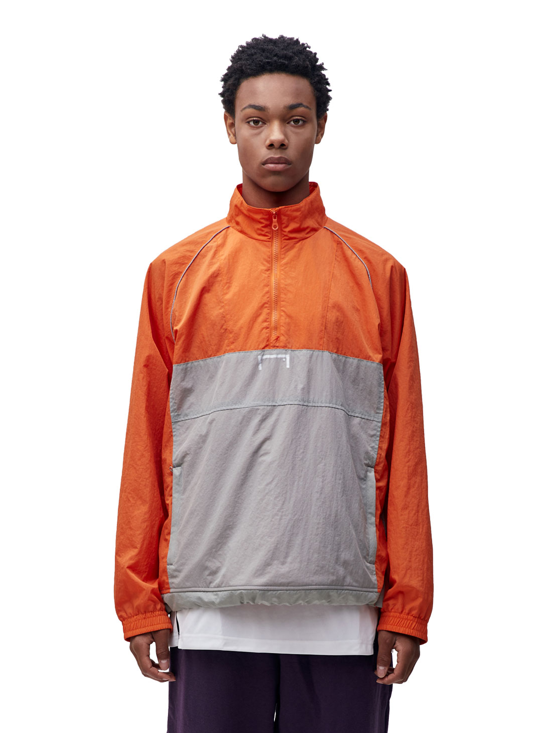 GOALSTUDIO COLOR BLOCK ANORAK - ORANGE