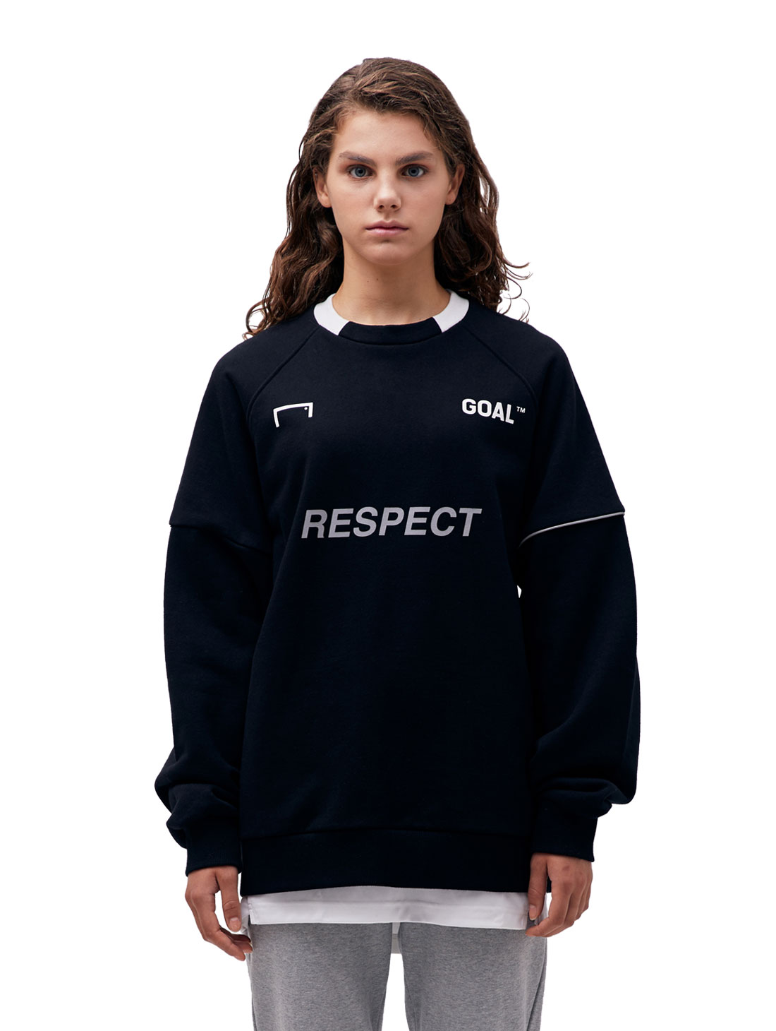 GOALSTUDIO (Sold Out) RESPECT SWEATSHIRT - BLACK