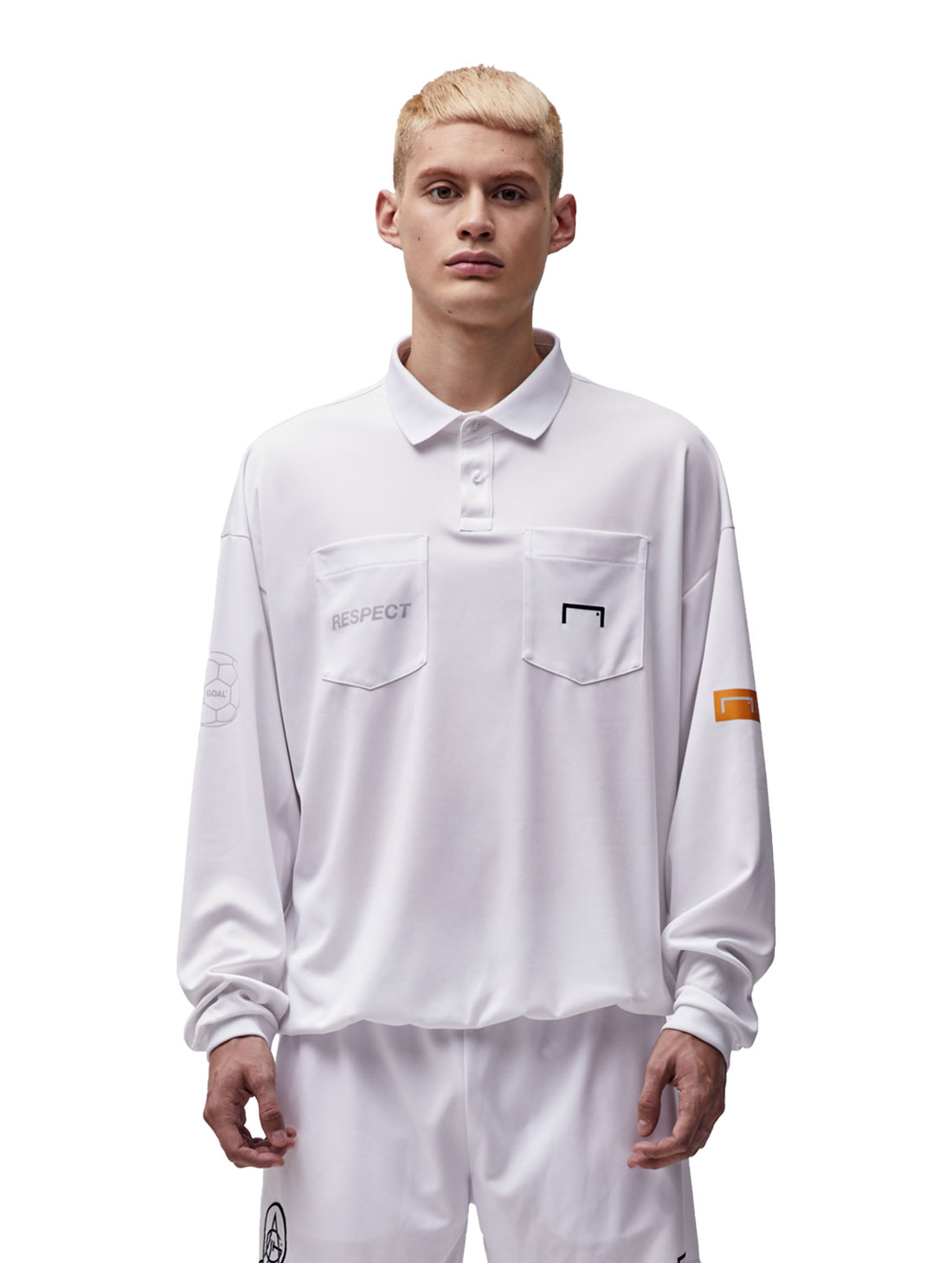 GOALSTUDIO RESPECT REFEREE SHIRT - WHITE