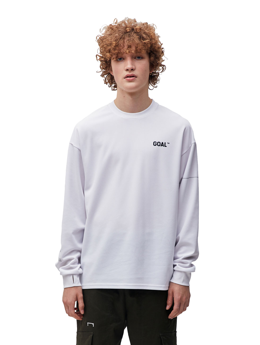 GOALSTUDIO RESPECT LONG SLEEVE TEE - WHITE