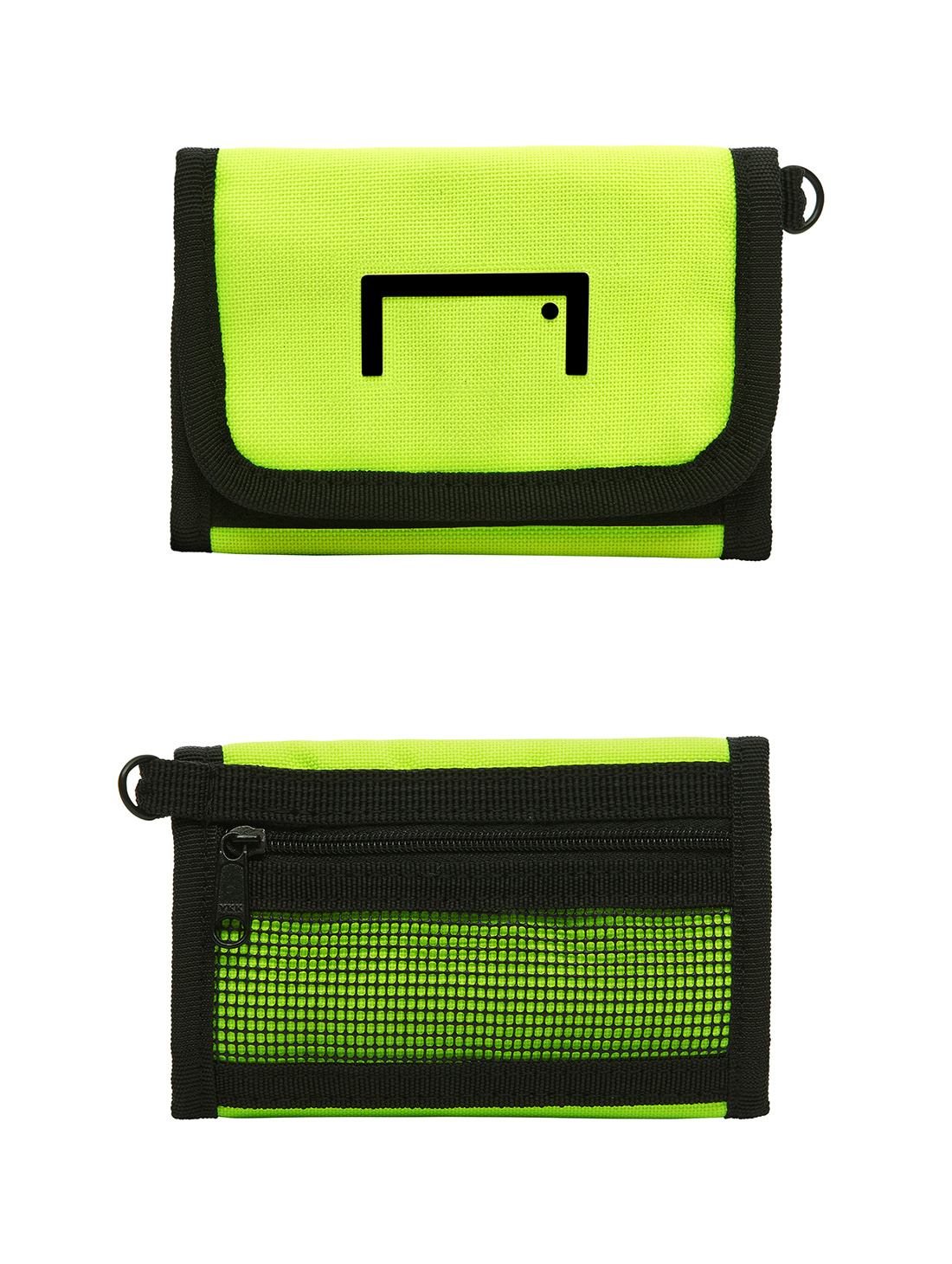 GOALSTUDIO VELCRO WALLET - LIME