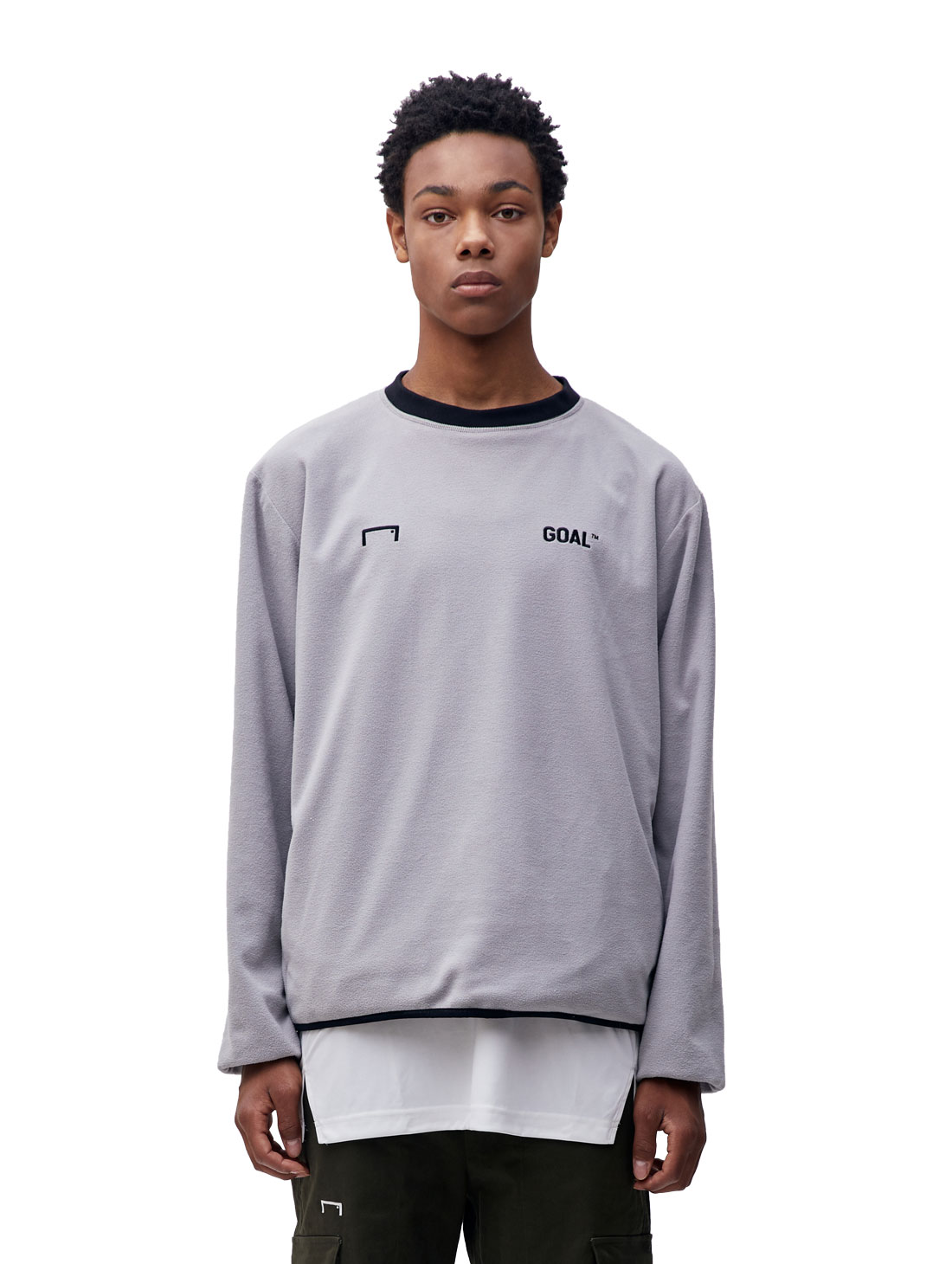 GOALSTUDIO (L)REVERSIBLE PULLOVER - GREY/BLACK