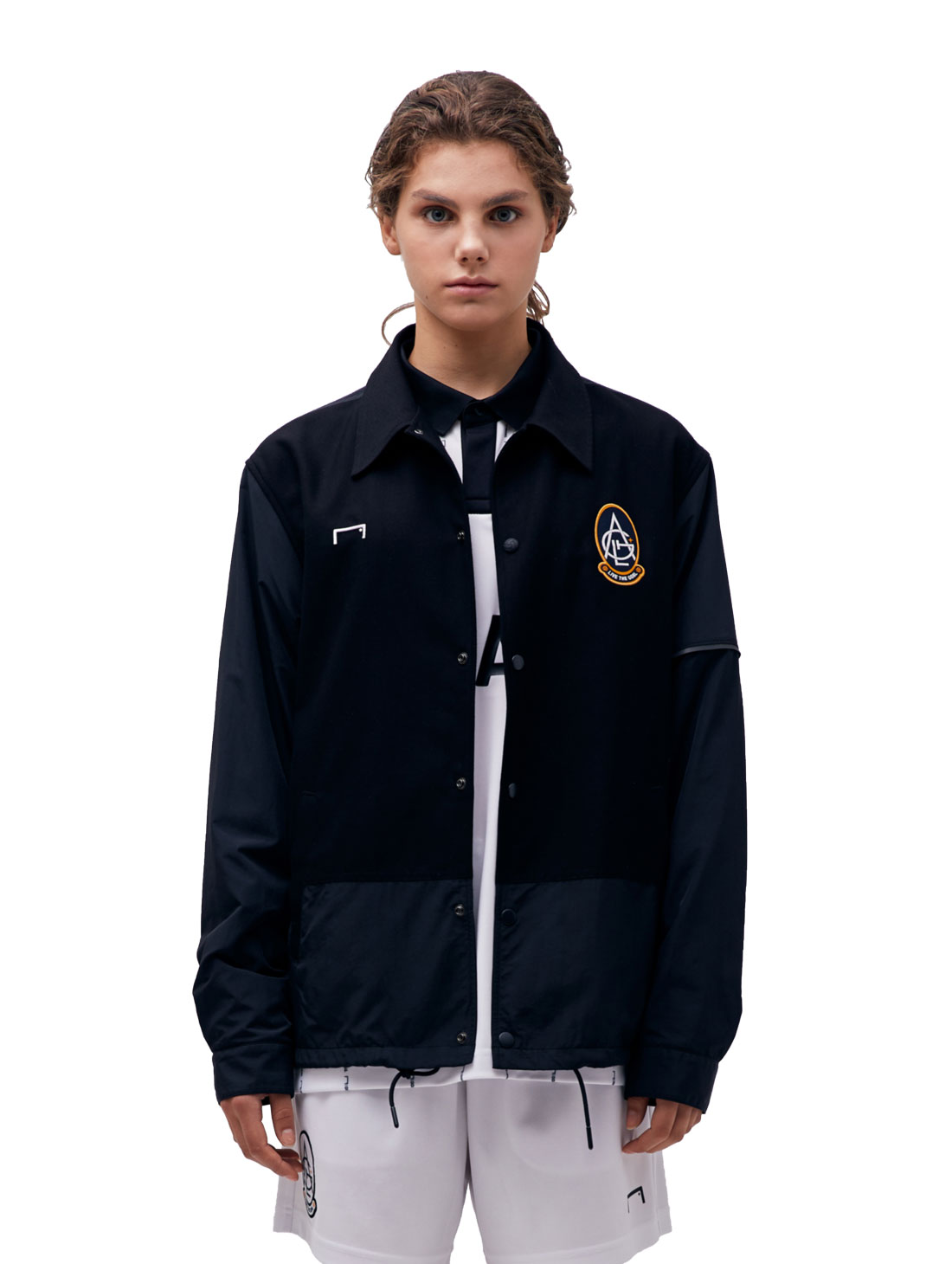 GOALSTUDIO EMBLEM COACH JACKET - BLACK