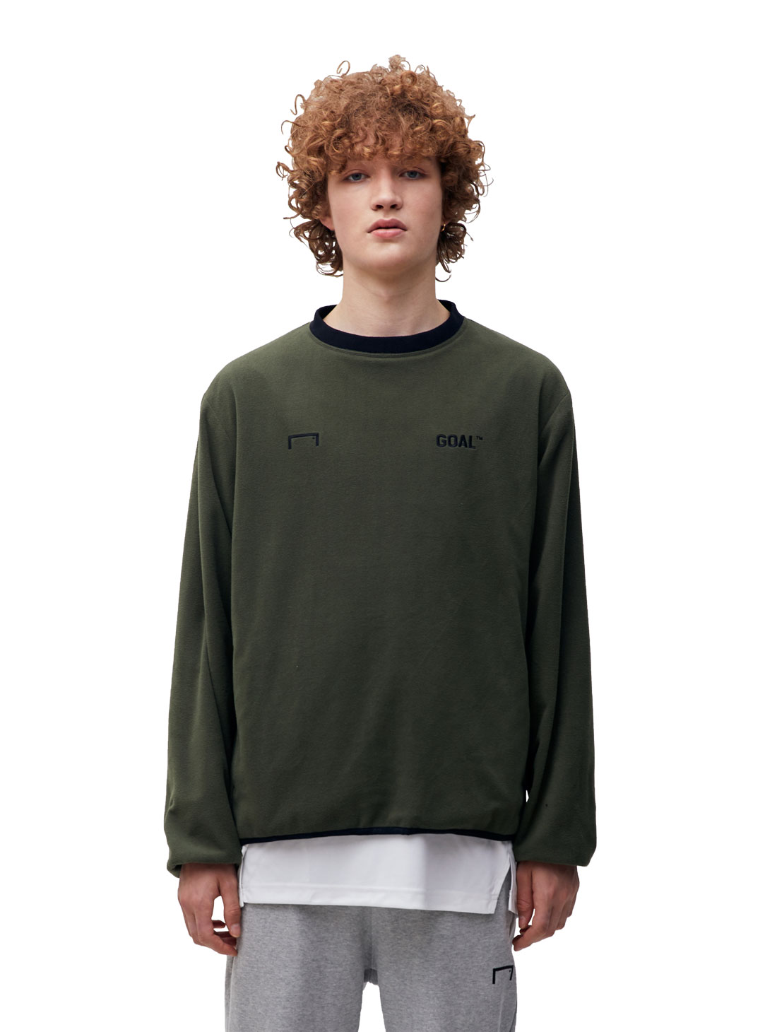 GOALSTUDIO (Sold Out) REVERSIBLE PULLOVER - KHAKI/BLACK