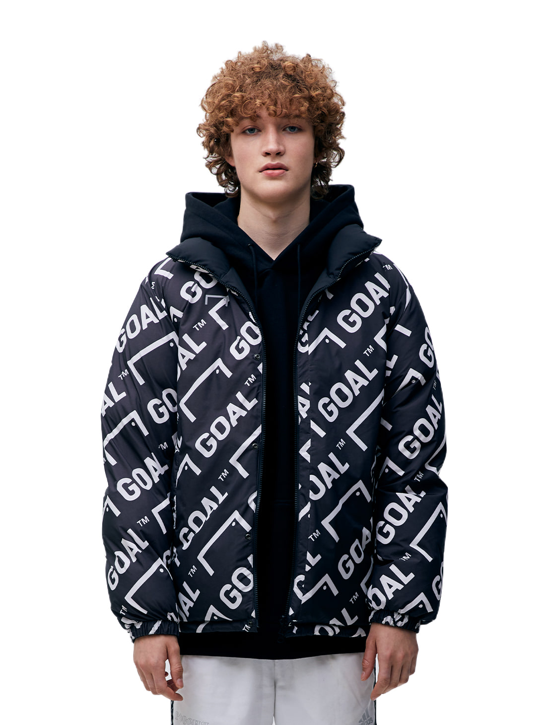 GOALSTUDIO (Last 1)REVERSIBLE DOWN PARKA - BLACK/GREY