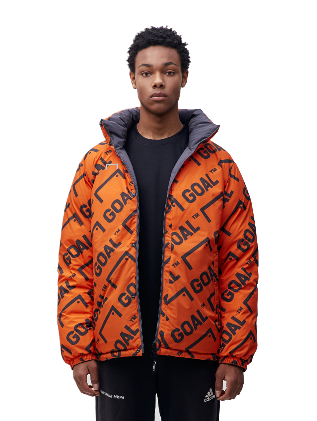GOALSTUDIO REVERSIBLE DOWN PARKA - GREY/ORANGE