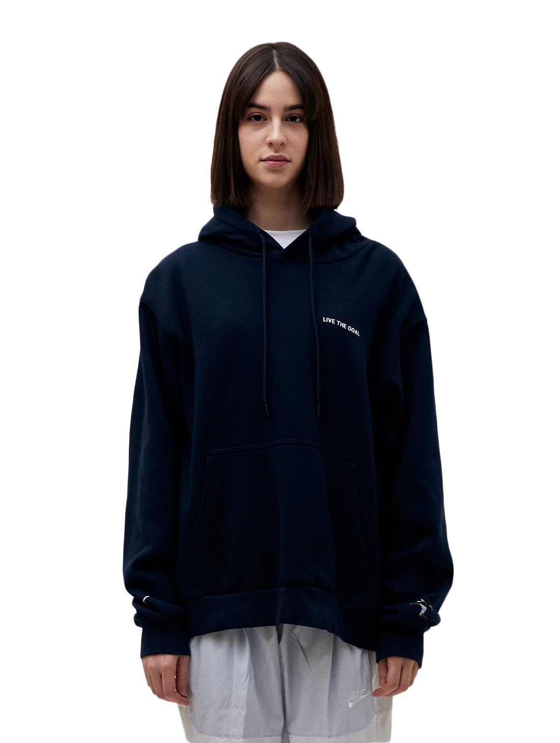 GOALSTUDIO LIVE THE GOAL HOODIE - NAVY