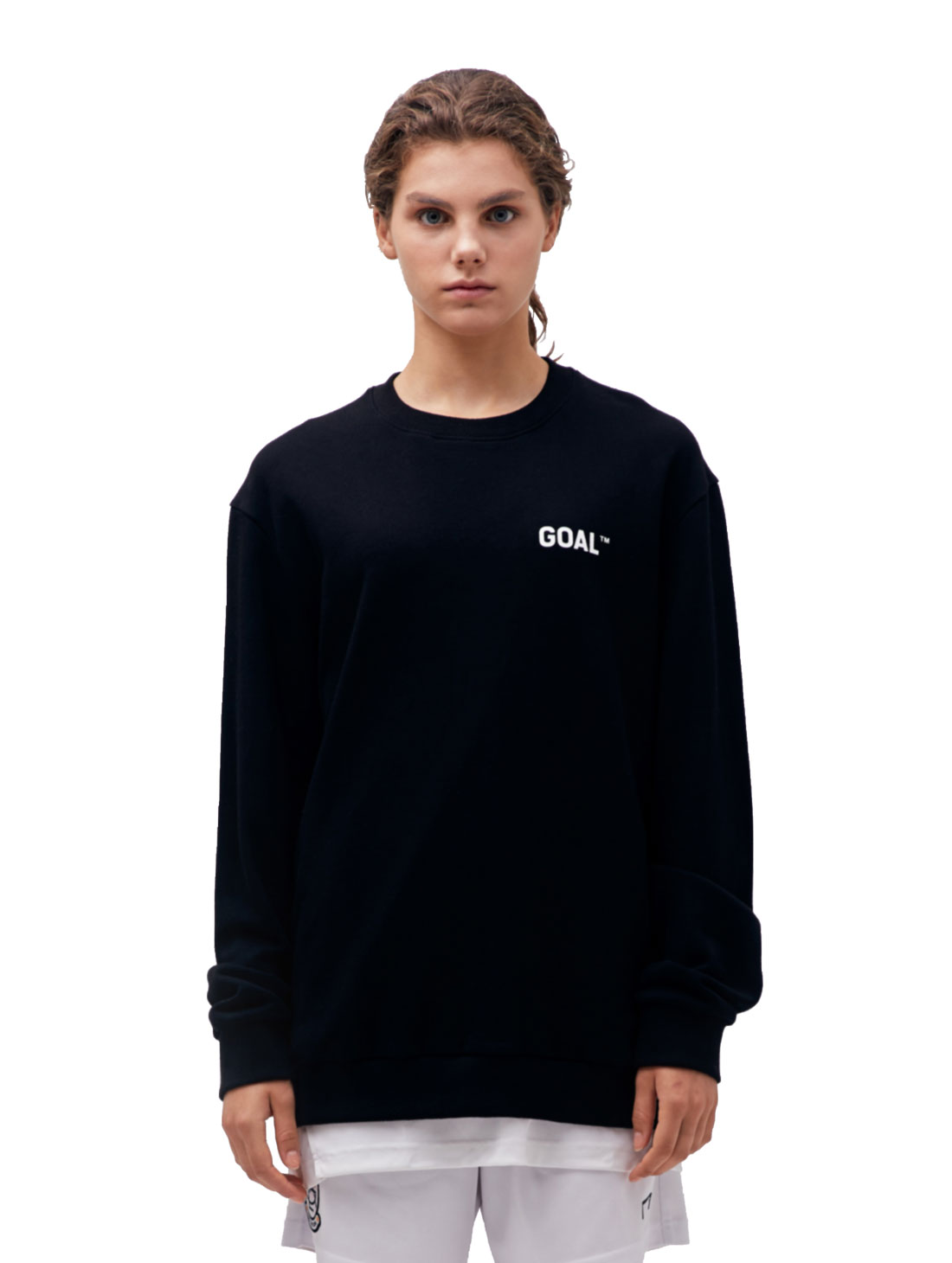 GOALSTUDIO (XS)BACK LOGO SWEATSHIRT - BLACK