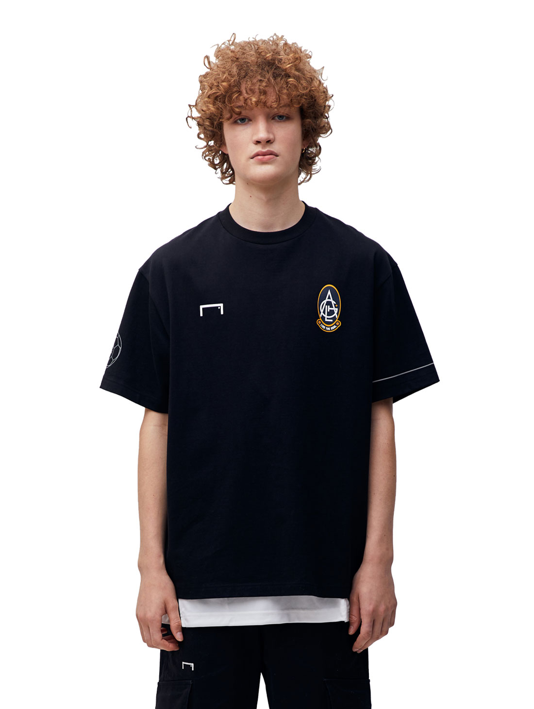 GOALSTUDIO EMBLEM TEE - BLACK