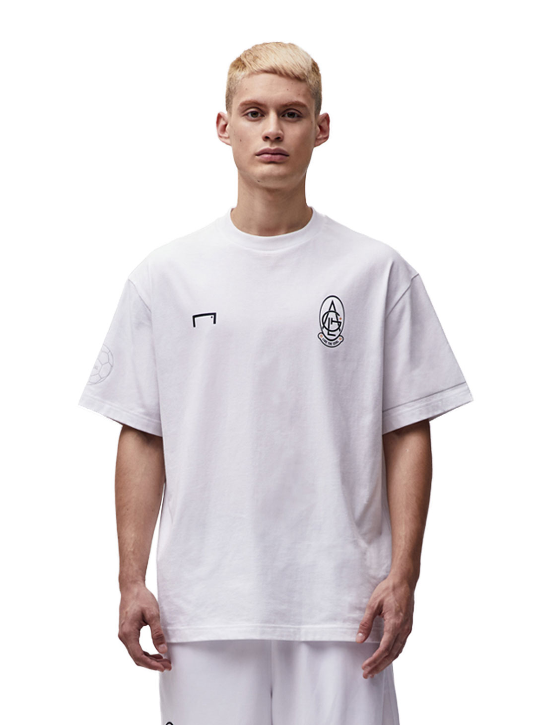 GOALSTUDIO EMBLEM TEE - WHITE