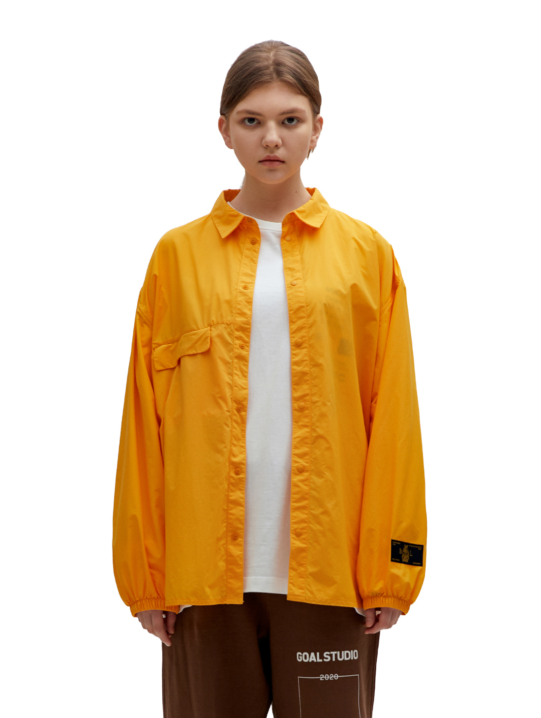 GOALSTUDIO SSFC WINDBREAKER SHIRT - YELLOW