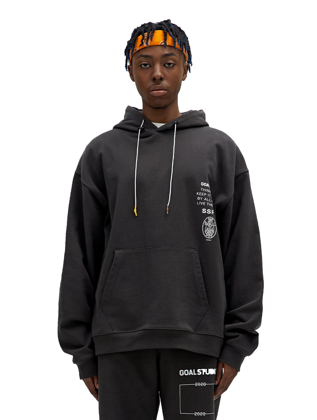 GOALSTUDIO SSFC JERSEY HOODED SWEATSHIRT - CHARCOAL