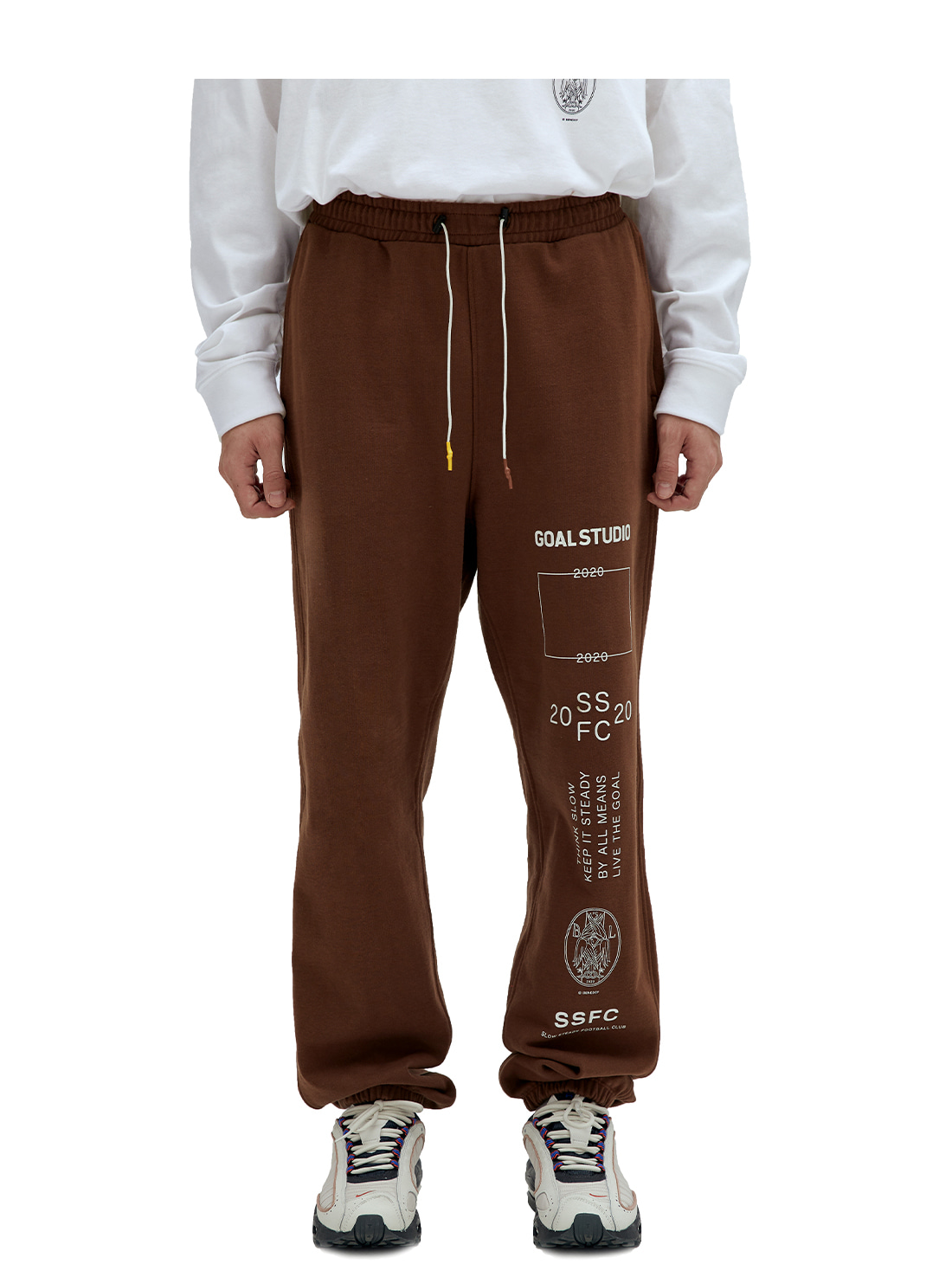 GOALSTUDIO SSFC JERSEY PANTS - BROWN