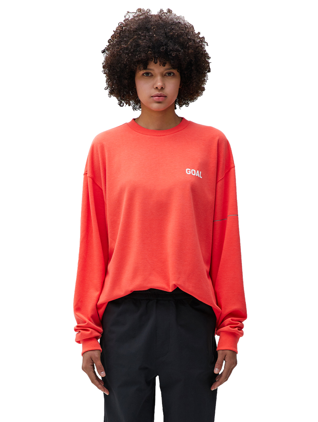 GOALSTUDIO LTG LONG SLEEVE TEE - ORANGE