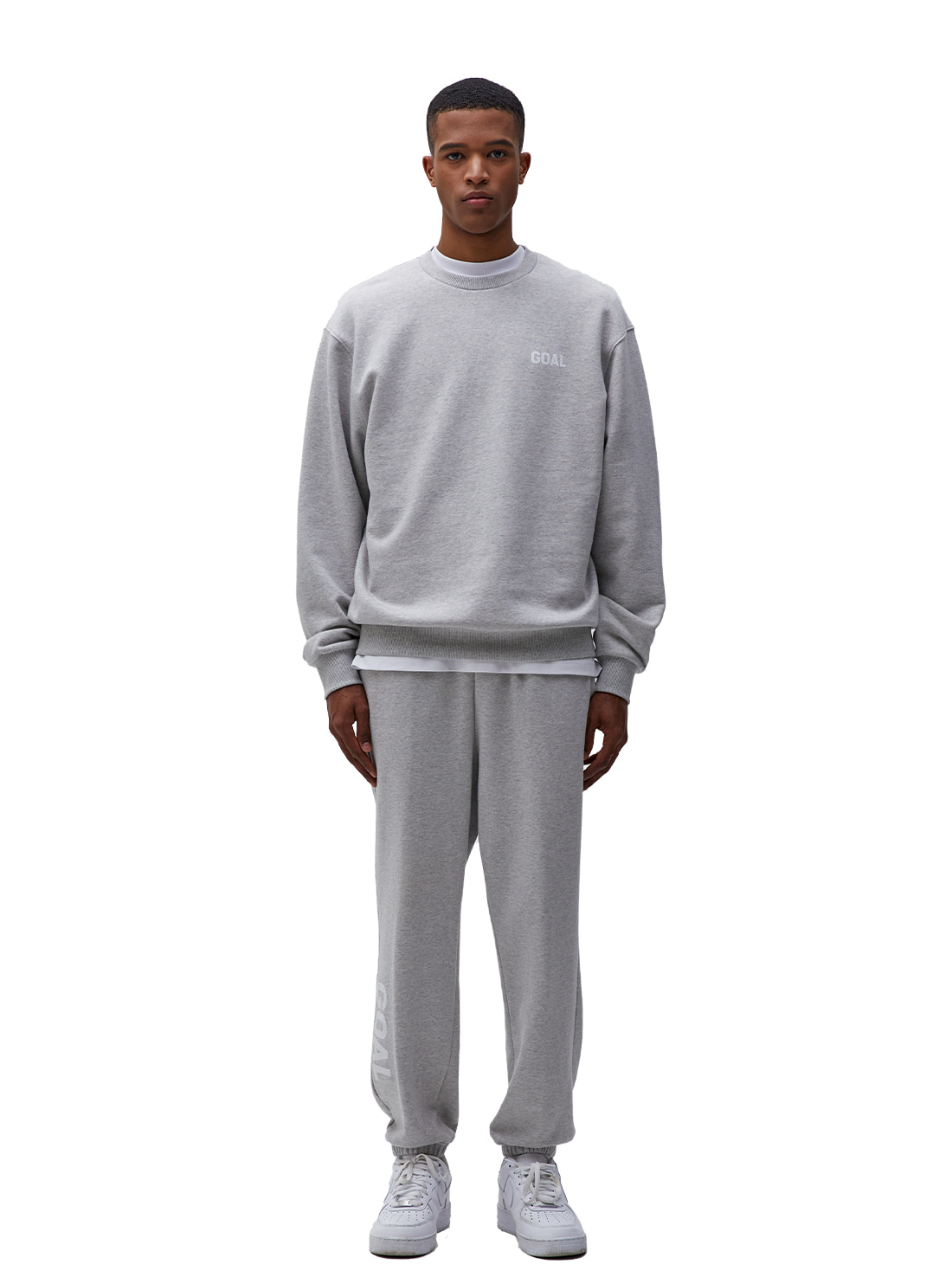 GOALSTUDIO [10% OFF] FLOCKING SWEATSHIRT & PANTS SET - GREY