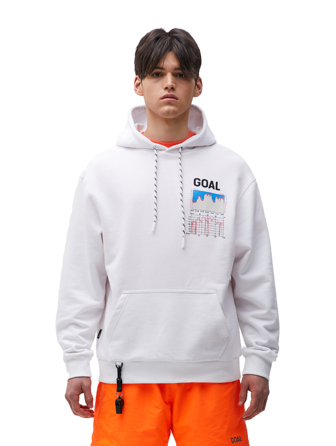 GOALSTUDIO PULSE GRAPHIC HOODIE - WHITE