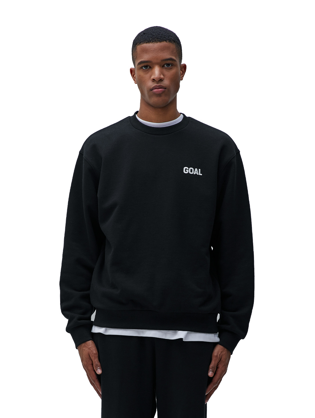 GOALSTUDIO (Sold Out) FLOCKING SWEATSHIRT - BLACK