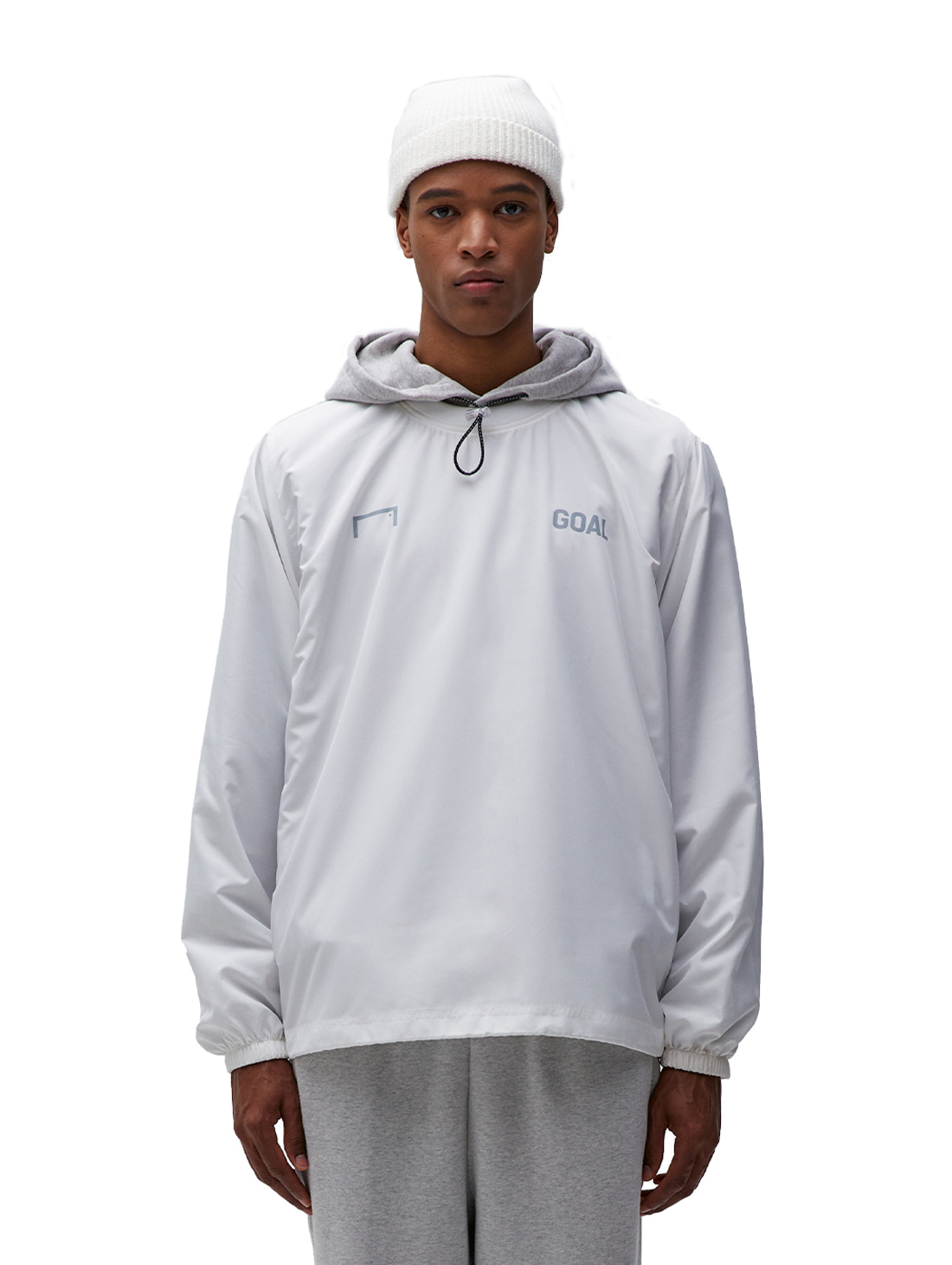 GOALSTUDIO SOLID WIND PULLOVER - WHITE