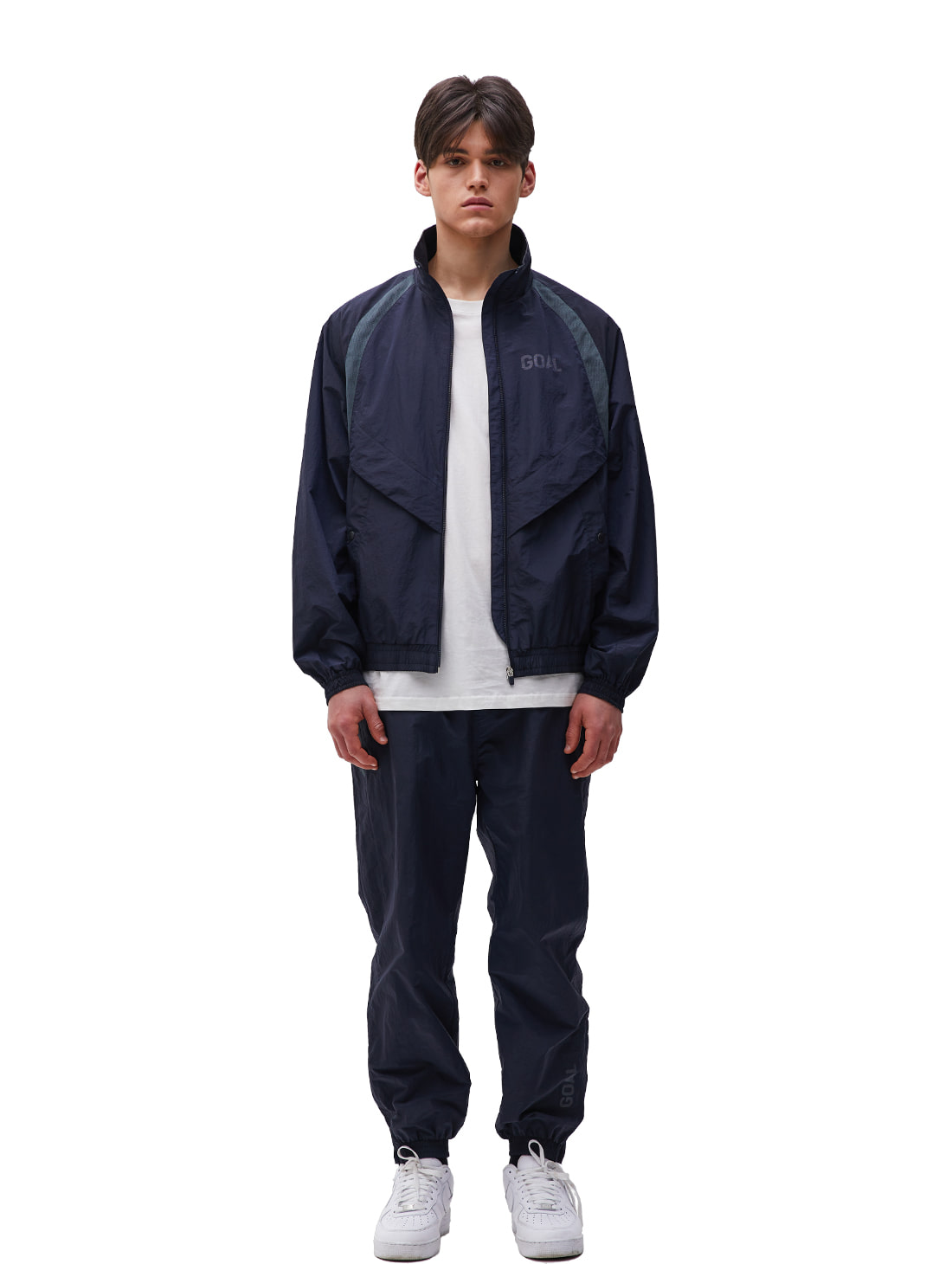 GOALSTUDIO [10% OFF] WARMUP JACKET & PANTS SET - NAVY