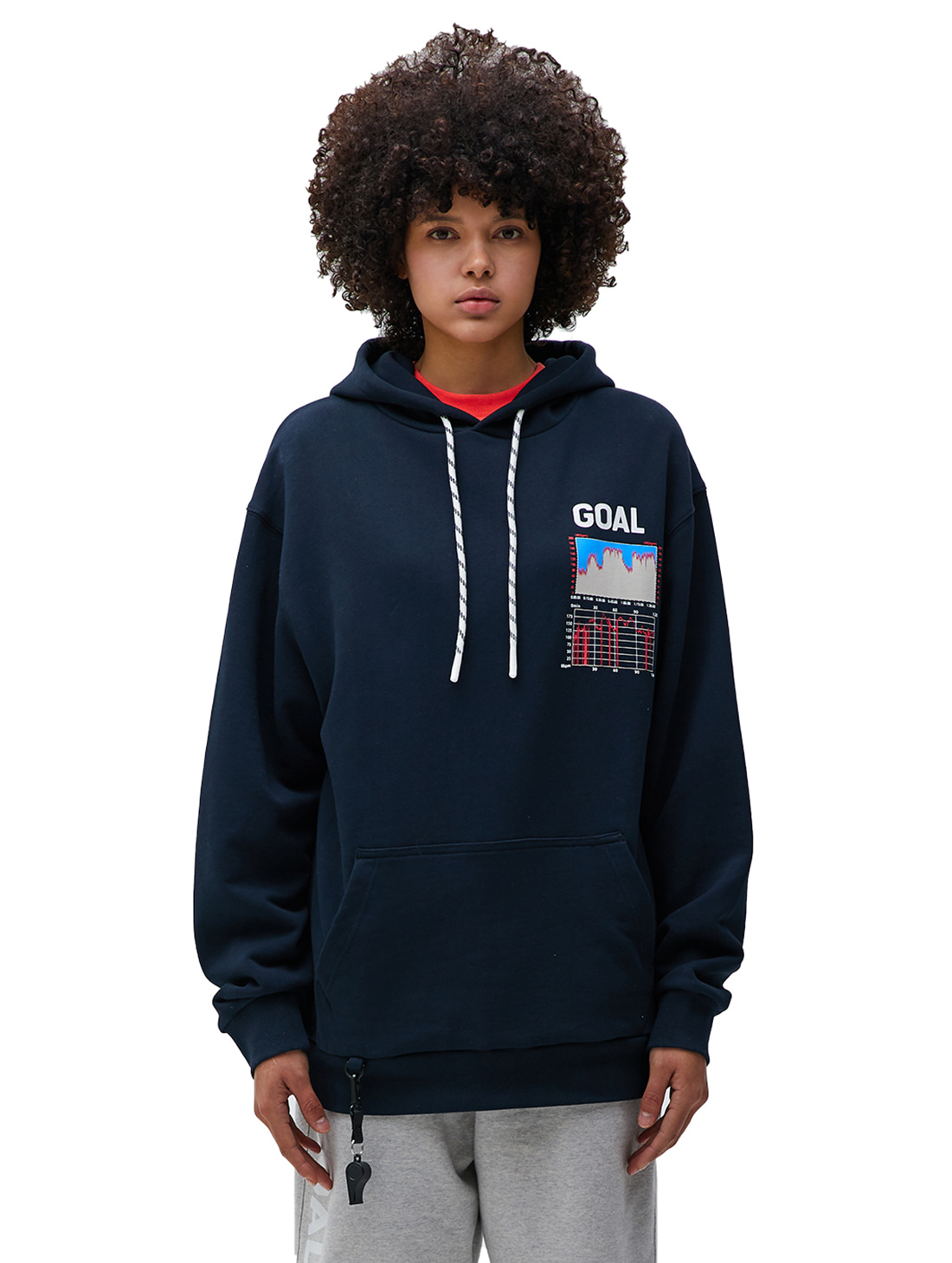 GOALSTUDIO PULSE GRAPHIC HOODIE - NAVY