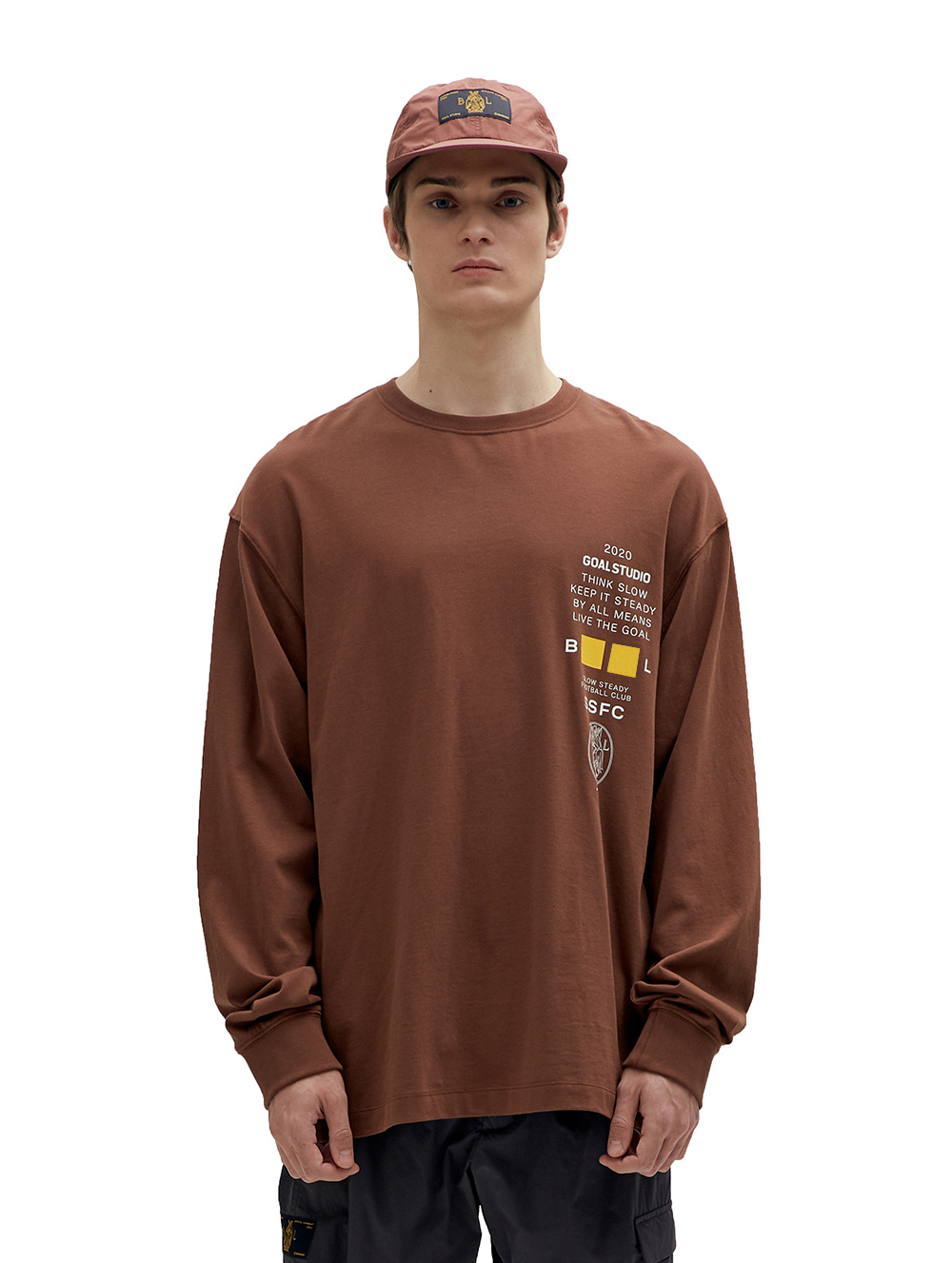 GOALSTUDIO SSFC JERSEY SINGLE LONG SLEEVE - BROWN