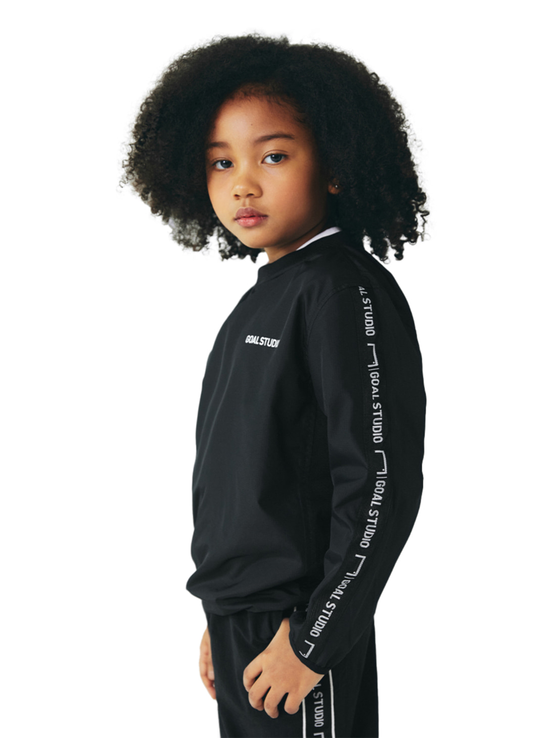 GOALSTUDIO (KIDS) WIND PULLOVER - BLACK