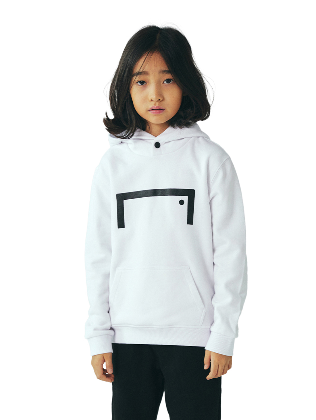 GOALSTUDIO (KIDS) STRIKER HOODIE - WHITE