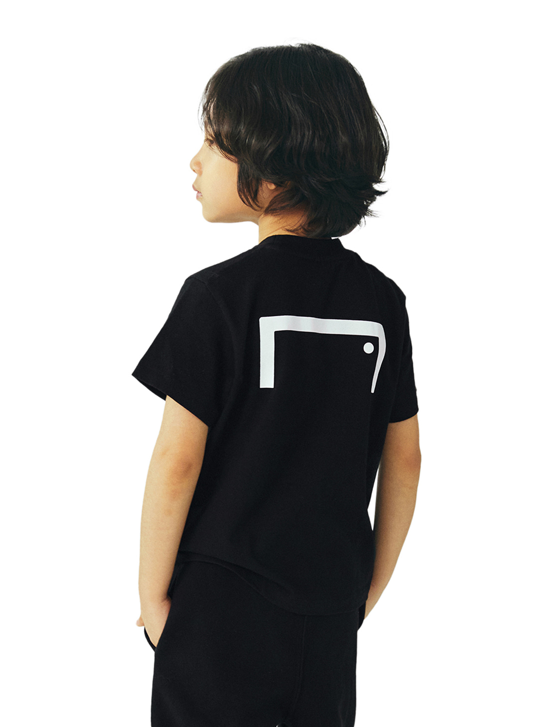 GOALSTUDIO (KIDS) TEXT LOGO TEE - BLACK