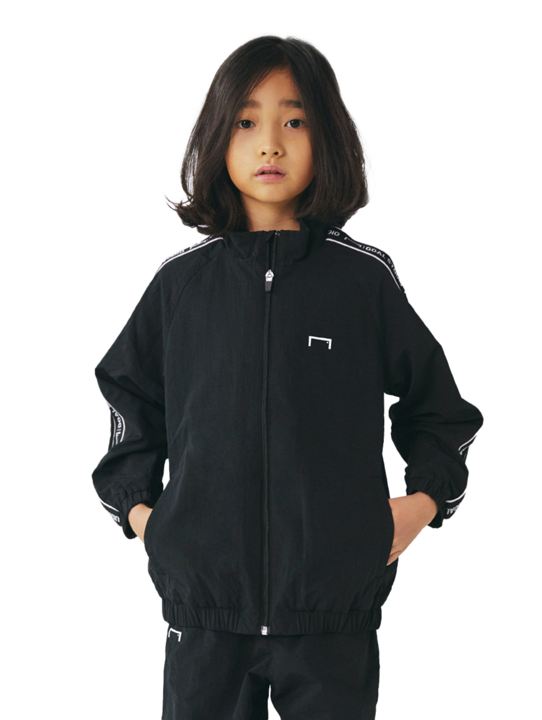 GOALSTUDIO (KIDS) SMALL LOGO TRACK JACKET - BLACK