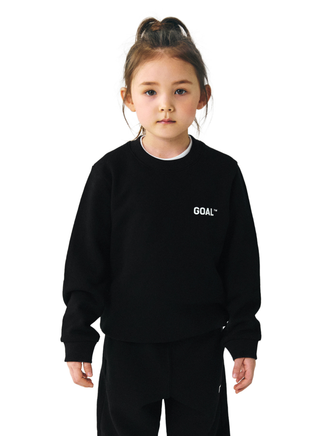 GOALSTUDIO (KIDS) BACK LOGO SWEATSHIRTS - BLACK