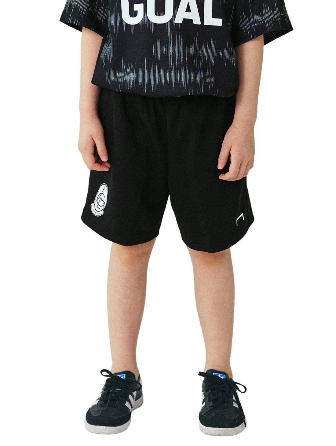 GOALSTUDIO (KIDS) PLAYER EMBLEM SHORTS - BLACK