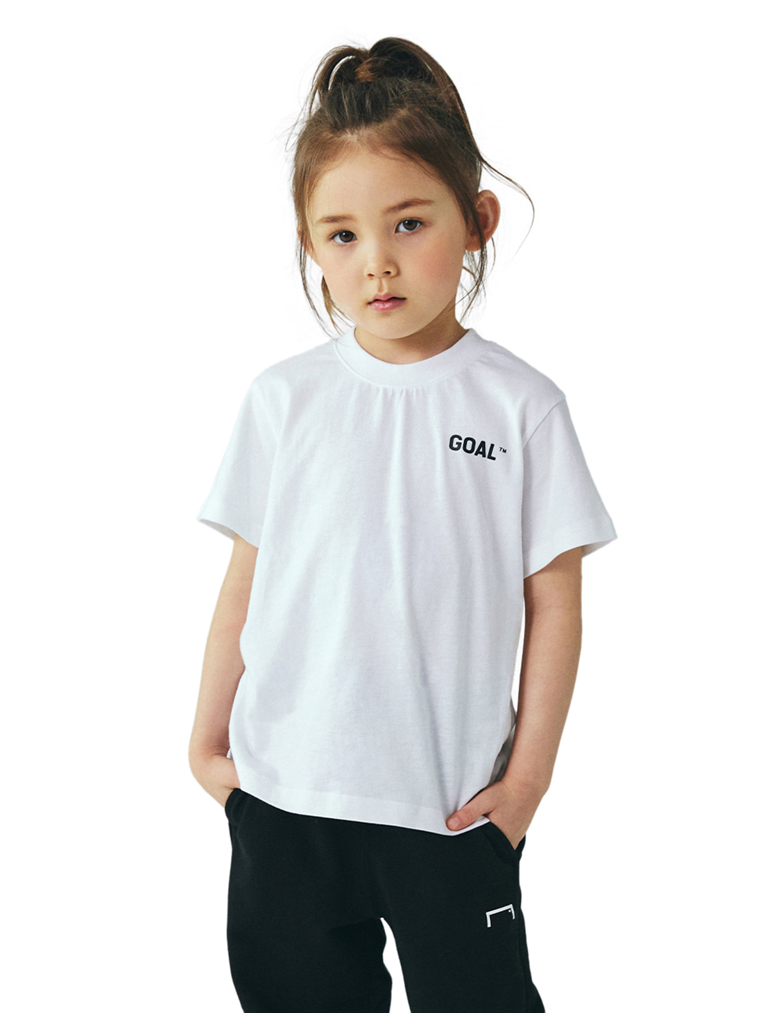 GOALSTUDIO (KIDS) TEXT LOGO TEE - WHITE