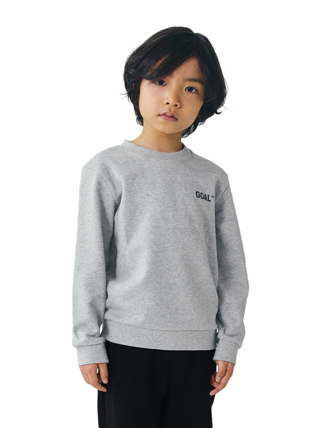 GOALSTUDIO (KIDS) BACK LOGO SWEATSHIRTS - GREY