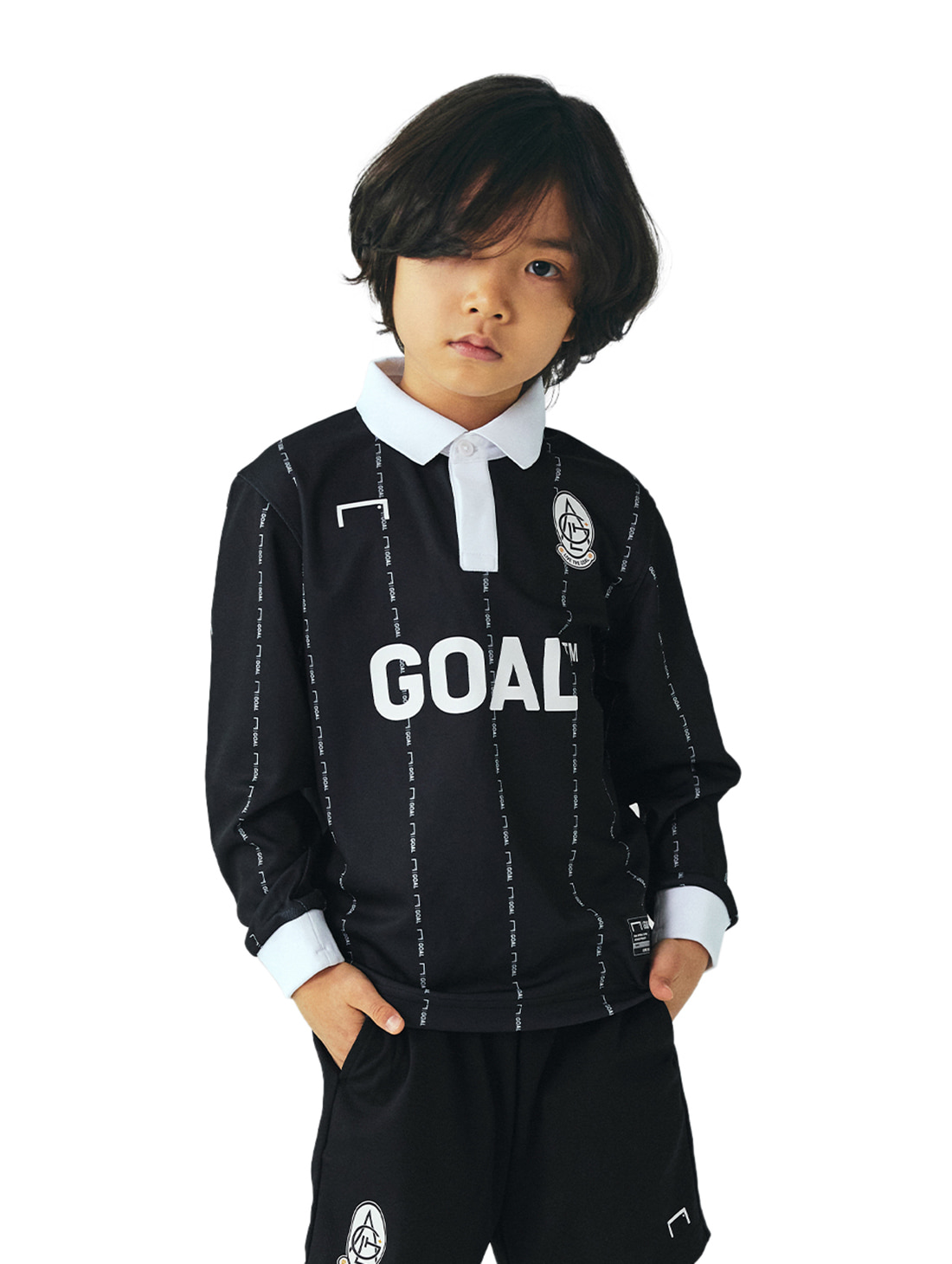 GOALSTUDIO (KIDS) PLAYER EMBLEM JERSEY - BLACK