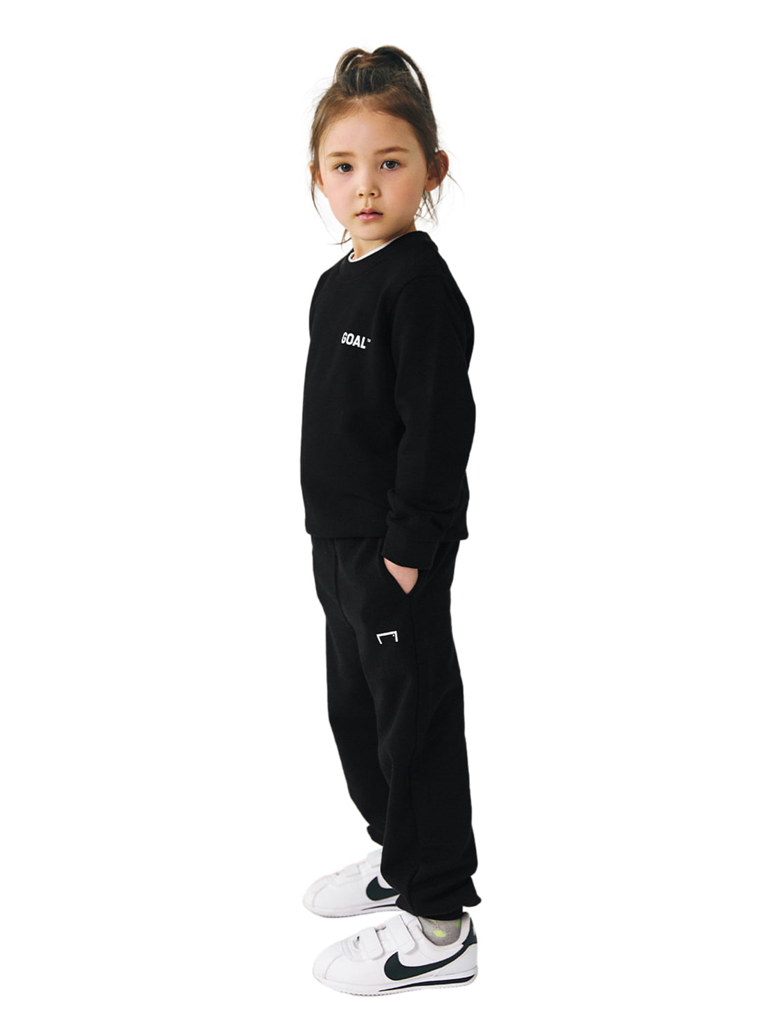 GOALSTUDIO [10% OFF] (KIDS) BACK LOGO SWEATSHIRTS & PANTS SET
