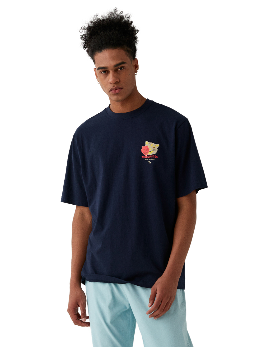 GOALSTUDIO MC MASK GRAPHIC TEE - NAVY