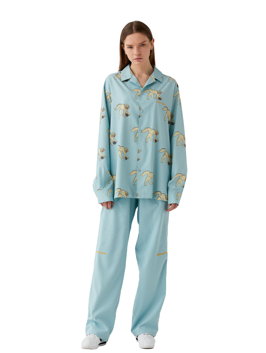 GOALSTUDIO [10% OFF] MC ALL OVER PATTERN SHIRTS & PANTS SET - LIGHT BLUE