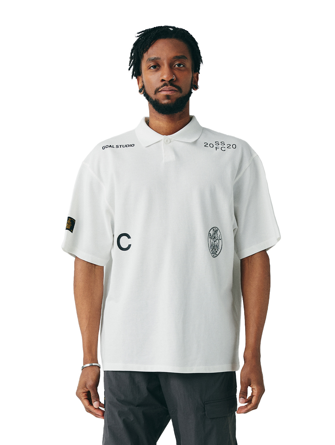 GOALSTUDIO SSFC PIQUE COLLAR SHIRT - WHITE