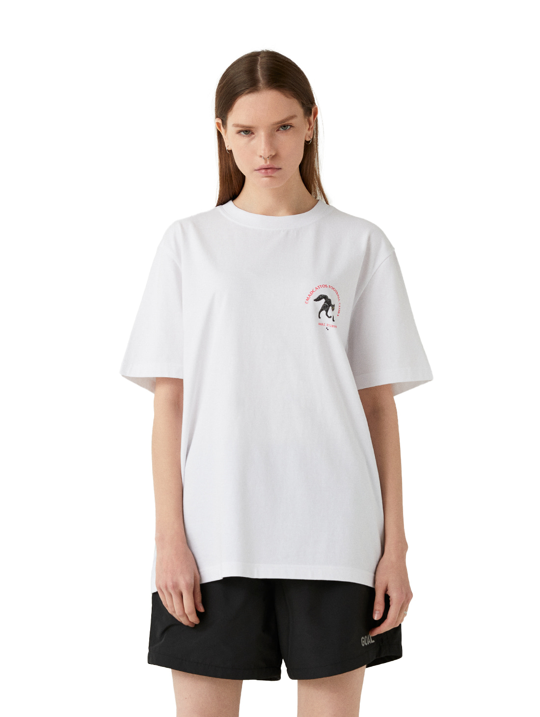 GOALSTUDIO MC SMALL FRONT GRAPHIC TEE - WHITE