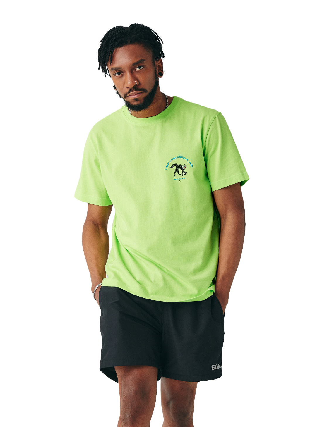 GOALSTUDIO MC SMALL FRONT GRAPHIC TEE - LIME