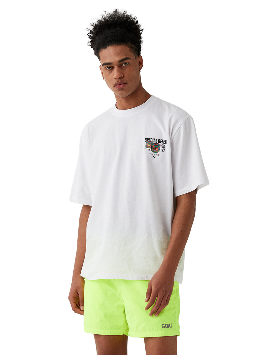 GOALSTUDIO MC BALM LOGO GRAPHIC TEE - WHITE