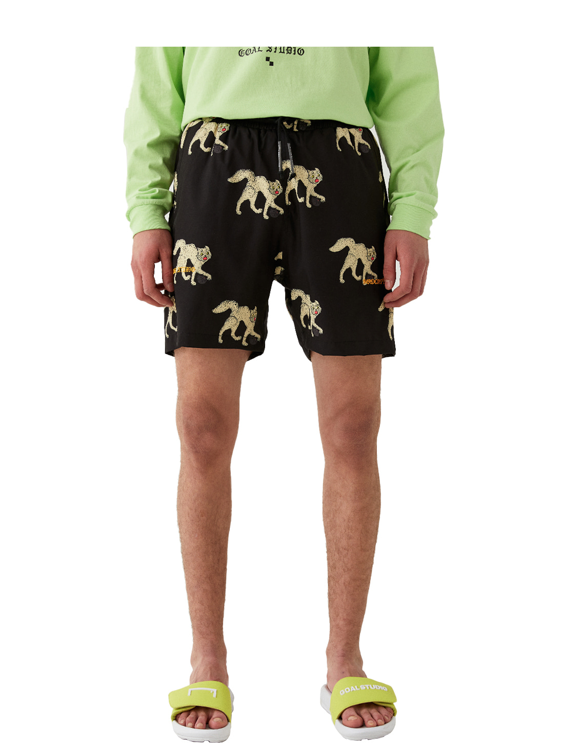 GOALSTUDIO MC ALL OVER PATTERN SHORTS - BLACK