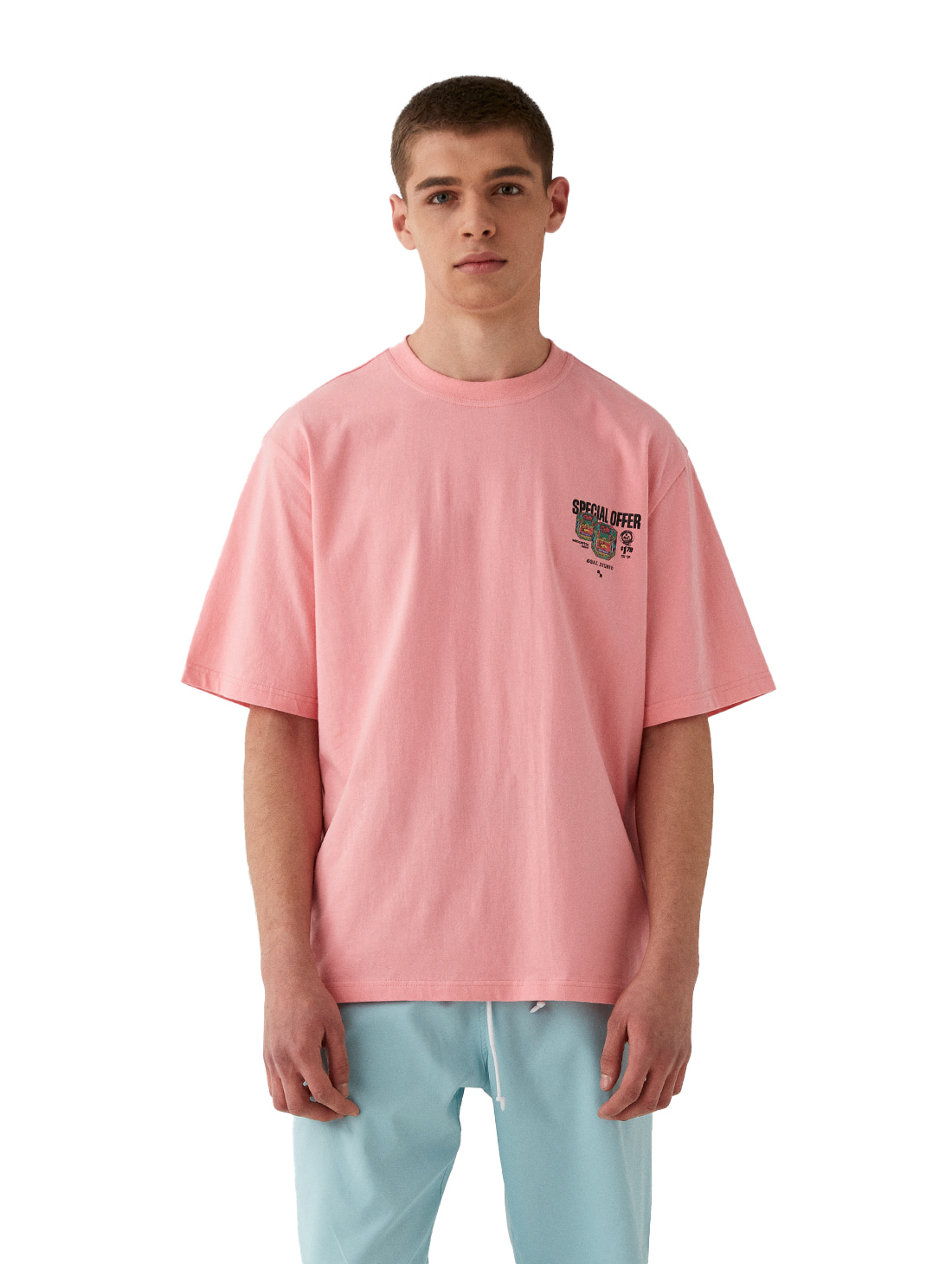 GOALSTUDIO MC BALM LOGO GRAPHIC TEE - PINK
